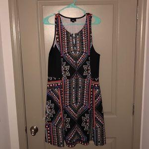 Fun bold zipper-front dress